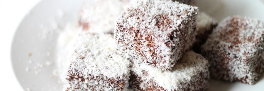 Double Chocolate And Berry Lamingtons Honest Cooking